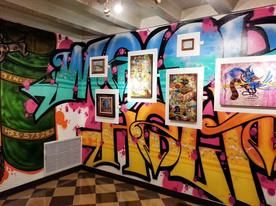 Local artist Clint Klima sets the backdrop for GERMS and other graffiti artists.